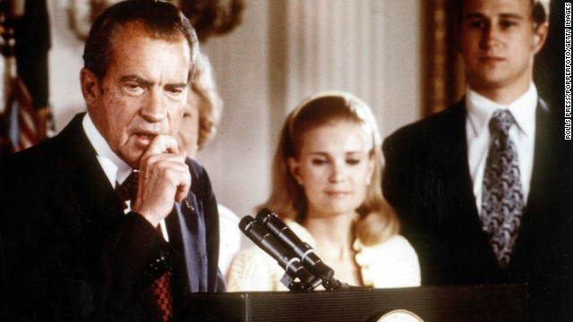 President Richard Nixon used the phrase liberally after leaving the White House when talking about Watergate. His chief spokesman, Ron Ziegler, also used the phrase in an apology of sorts to Washington Post reporters Bob Woodward and Carl Bernstein for negative comments about them from the White House.
