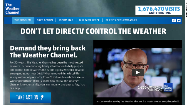 Weather Channel blackout highlights competition from web