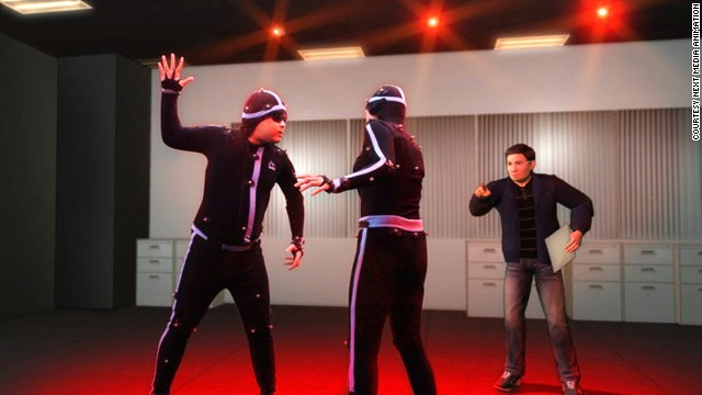 Two members of NMA Taiwan's 400-person animation team act out scenes that will appear in one of their popular CGI videos. NWA's talents were exposed to the world with the 2009 release of their hilarious video of <a href='http://www.nma.tv/tiger-woods-animation-started/' target='_blank'>what might have happened</a> during Tiger Woods' infamous car crash.