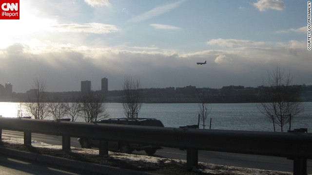 "CNN also received hundreds of images from the ""Miracle on the Hudson"" that day. ""I was stuck in traffic sitting still, and a plane came out of nowhere -- didn't look like it was in distress or anything,"" said <a href='http://ireport.cnn.com/docs/DOC-182031'>Lou Fromansky</a> in 2009. ""I thought it was another terrorist attack -- thinking it might fly into a building."""