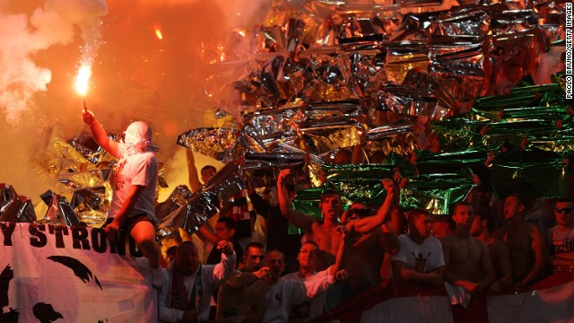 Lech Poznan is not the only Polish club to have been investigated due to its supporters' behavior. Legia Warsaw fans are renowned for their racist chanting and the team was forced to play behind closed doors last year by European ruling body UEFA, which also imposed a fine.