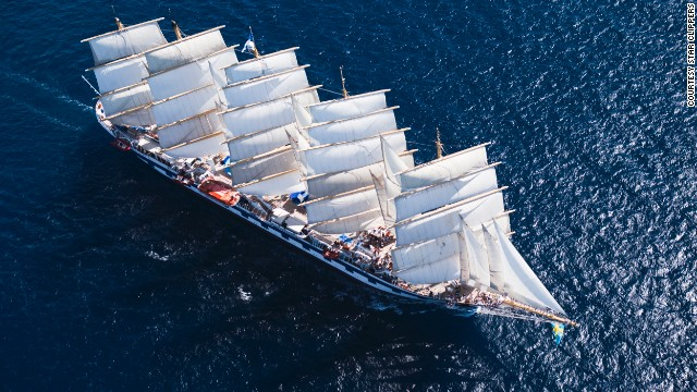 Passengers on Royal Clipper's trans-Atlantic crossings are committed to seafaring: the journey involves 10 consecutive days without landfall. They also tend to be avid readers, the tall ship company says.