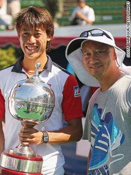 Michael Chang (right), who stunned Edberg in the 1989 French Open final as a teenager, took up a coaching role with rising Japanese star Kei Nishikori last December.