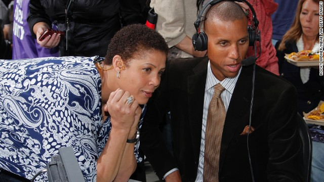 Basketball hall-of-famer Cheryl Miller is a 6-foot-3 former forward who garnered NCAA scoring records at the University of Southern California. Miller led the U.S. women's team to a gold medal at the 1984 Olympics and went on to coach at her alma mater. She offers commentary and sideline reporting for the NBA. Miller was born on January 3, 1964, and her brothers are former NBA star Reggie Miller (pictured) and former major league catcher Darrell Miller.<!-- --> </br>