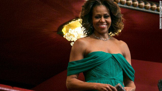 The first lady, seen here in December 2013 during the Kennedy Center Honors in Washington, D.C., is a fan of the show