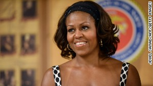 First lady Michelle Obama turns 50 on Friday.\n