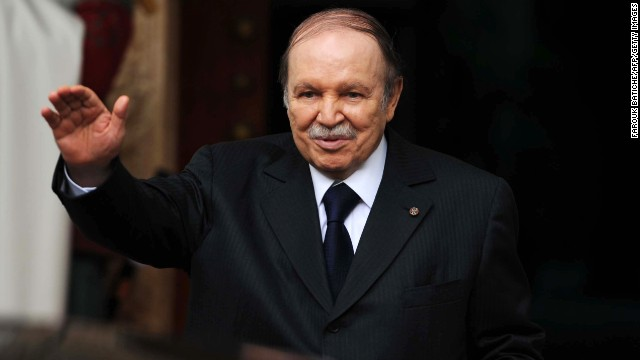 Algerian President Abdelaziz Bouteflika <a href='http://www.cnn.com/2013/04/27/world/africa/algeria-president-stroke/index.html'>suffered a ministroke in April </a>and hasn't appeared as much in public since then. State media reported on January 14 that he's in Paris for a routine checkup and that his health is improving.