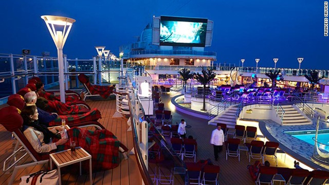 "Prince Cruises' Regal Princess features an adults-only pool, a glass-enclosed ""SeaWalk"" extending 128 feet over the water and balconies for all outside cabins."