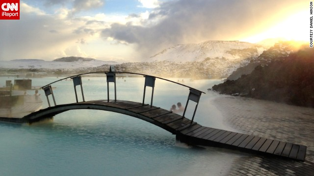 It looks like something from another world, but <a href='http://ireport.cnn.com/docs/DOC-1064842'>Blue Lagoon</a> is a warm pool in Iceland that was accidentally formed by a geothermal power plant in 1976. People have been bathing in it ever since.