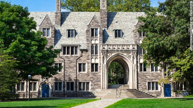 Princeton University's picturesque campus is the anchor for this elegant and historic town. The university's Lockhart Hall is shown here.