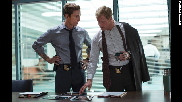 "<strong>""True Detective"": </strong>Scenes of violence are routine in prime-time TV now, especially with the resurgence of crime and horror series such as ""True Detective,"" which has its first season finale on Sunday, March 9. The show stars Matthew McConaughey and Woody Harrelson as a pair of investigators uncovering grisly murders."