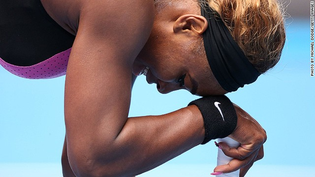 Serena Williams had been tipped to win all four grand slams in the 2014 season but falls at the first of them in Australia.