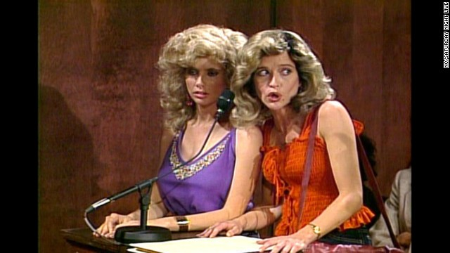 "Her official time on the show was from 1986 to 1991, but Jan Hooks (right) continued to appear on the show occasionally until 1994. She later had a role on ""Designing Women."""