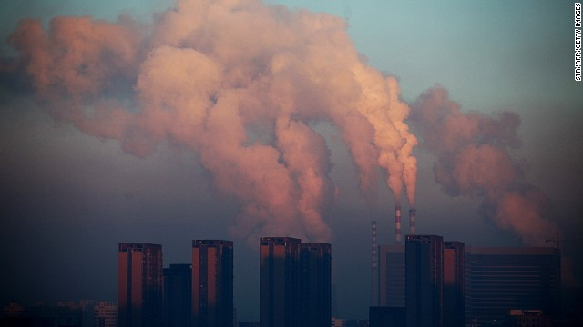 In October 2013, a month before the Ride for Hope, planes were grounded and highways were closed in northeast China due to poor visibility caused by smog. This 2013 image shows a thermal power plant discharging heavy smog in Jilin province.