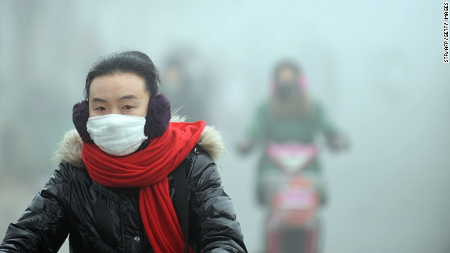 The Ride for Hope bikers stopped in Shanghai. The smog doesn't. North of Shanghai, in Haozhou, residents deal with dense blankets of pollution. (Photo from 2013.)