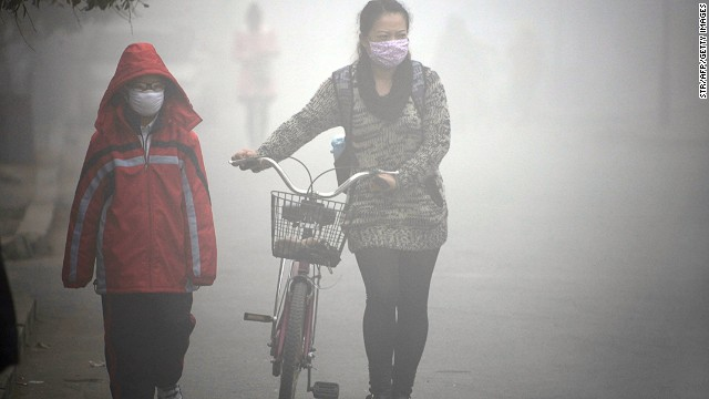 Shocking pollution is a nationwide issue. A few weeks before the 2013 Ride for Hope commenced, schools were closed due to the heavy smog in Jilin (pictured) in northeast China.