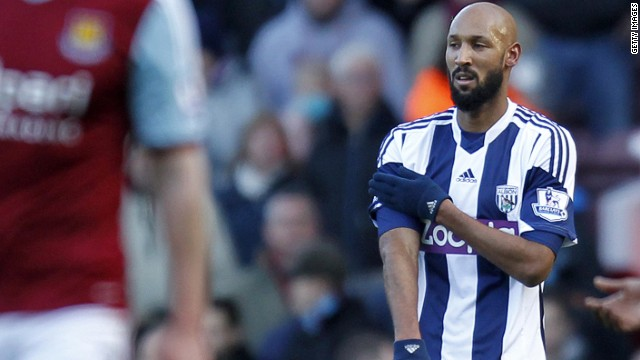 Anelka played for West Brom on Monday, hours after the sponsor announced an end to their association with the club.