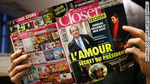 The French magazine Closer exposed President Francois Hollande\'s affair with actress Julie Gayet.