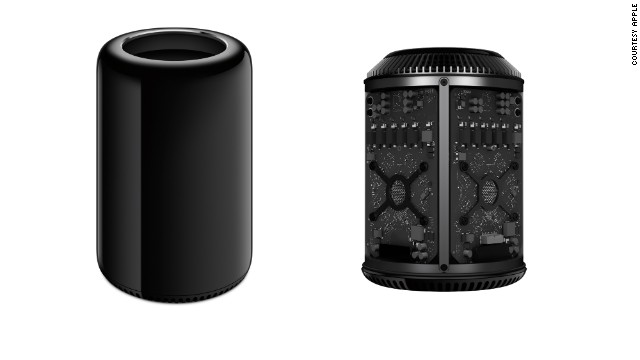Released in December 2013,<a href='http://www.cnn.com/2013/12/18/tech/gaming-gadgets/apple-mac-pro-sale/index.html?iref=allsearch' target='_blank'> the new Mac Pro</a> is Apple's high-end workhorse computer for users with intense graphic and video needs. It's a silver and black cylinder that stands 10 inches tall.