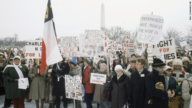 March For Life demonstration in front of the White House on January 23, 1982.