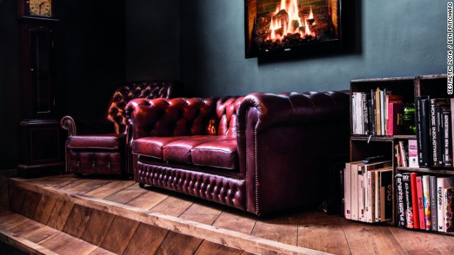 This digital advertising agency oozes Old World chic in order to contrast with its rivals, who tend to favor a sleek, steel aesthetic. The vintage leather sofa hints at the firm'