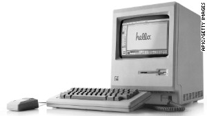 1st Apple Macintosh (Mac) 128K computer, released january 24, 1984 by Steve Jobs... Caption: UNSPECIFIED - MARCH 31: 1st Apple Macintosh (Mac) 128K computer, released january 24, 1984 by Steve Jobs (Photo by Apic/Getty Images)