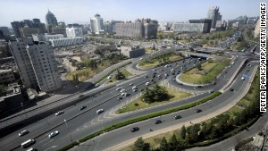 Beijing\'s second ring road.