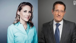 Nina Dos Santos and Richard Quest