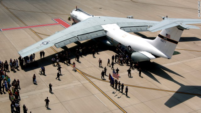 """""""This plane looked like an absolute angel coming to get us,"""" remembered one ex-Vietnam War POW who rode this <a href='http://www.nationalmuseum.af.mil/factsheets/factsheet.asp?id=3981' target='_blank'>C-141 Starlifter -- the Hanoi Taxi</a> -- to freedom."""