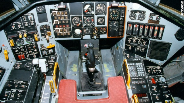 """For a single-pilot airplane, Tacit Blue had an unusually wide cockpit, said retired Air Force test pilot Russ Easter, who flew the plane in the early 1980s. """"You could extend your arms and not touch either side of the cockpit. It was an interesting situation to sit in there and fly the airplane from that very large office."""""""