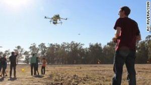 Hobbyists pilot drones for dogfights