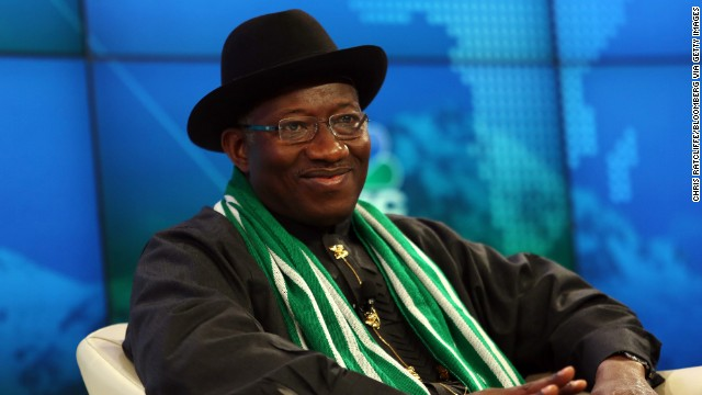 Goodluck Jonathan, Nigeria's president, participates in a panel on Africa's growth.