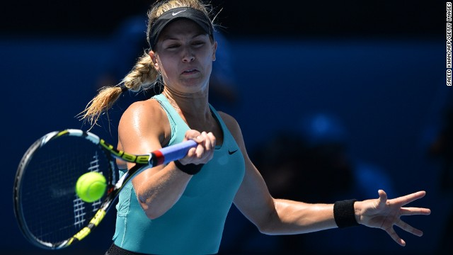 Li Na beat the 19-year-old Canadian Eugenie Bouchard (pictured) in the semifinals on Thursday in straight sets 6-2 6-4. The fourth seed has reached the final in Melbourne three times.