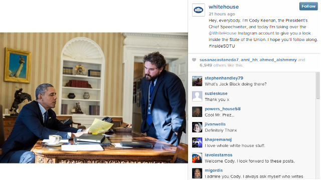 White House uses social media in preps for the State of the Union