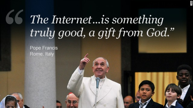 Pope: The Internet is a 'gift from God.' But watch out for the trolls