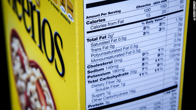 <strong>January 23, 2014: </strong>The Food and Drug Administration says it's working toward publishing proposed rules to update nutrition facts labeling on foods. The labels were introduced 20 years ago.