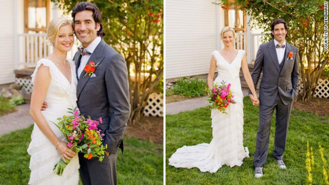 <a href='http://www.elle.com/life-love/sex-relationships/kelsey-isaac-weddings#slide-10' target='_blank'>Amy and Carter</a>: September 10, 2011, at their Traverse City, Michigan, home, which is a 100-year-old farmhouse