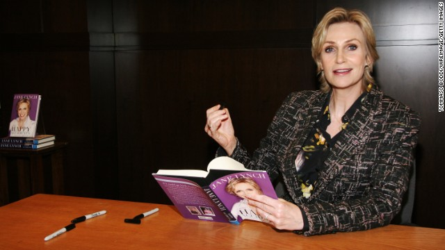 Jane Lynch wrote about her addictions to alcohol and cough syrup in her memoir