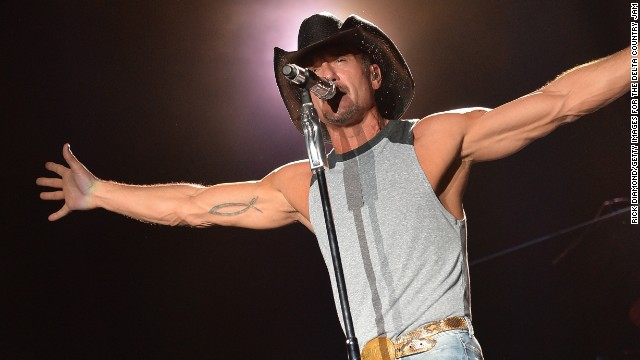 Country star Tim McGraw<a target=