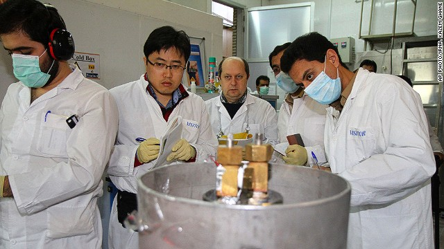 IAEA inspectors visit the Natanz uranium enrichment facility on January 20, 2014.