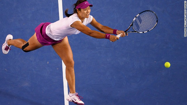 Li Na came through a scrappy first set, winning the tie break 7-3 before outplaying her Slovakian opponent in the second set.