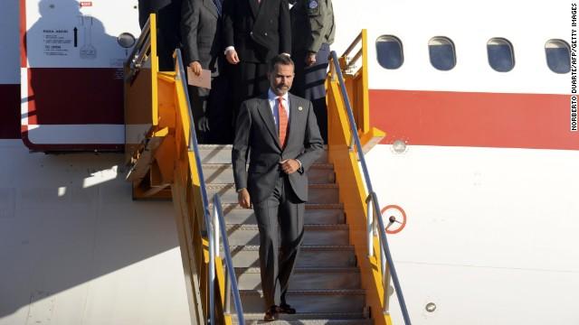 Avería del avión del príncipe Felipe