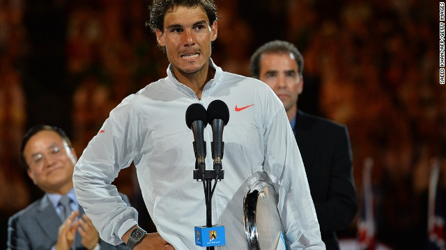"""Bad luck was against me today but you really deserved it so congratulations,"" Nadal, wiping away tears, told the crowd post match. ""Sorry to finish this way. I tried very, very hard."""