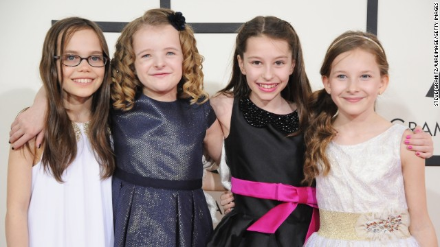 From left, Oona Laurence, Milly Shapiro, Bailey Ryon and Sophia Gennusa