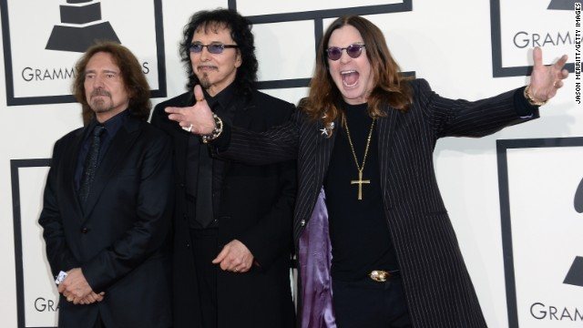 From left, Geezer Butler, Tony Iommi and Ozzy Osbourne of Black Sabbath
