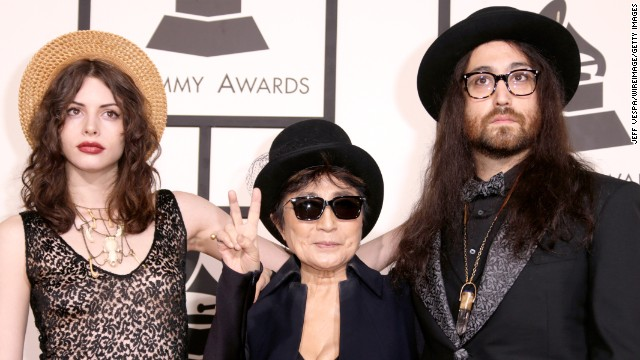 From left, Charlotte Kemp Muhl, Yoko Ono and Sean Lennon