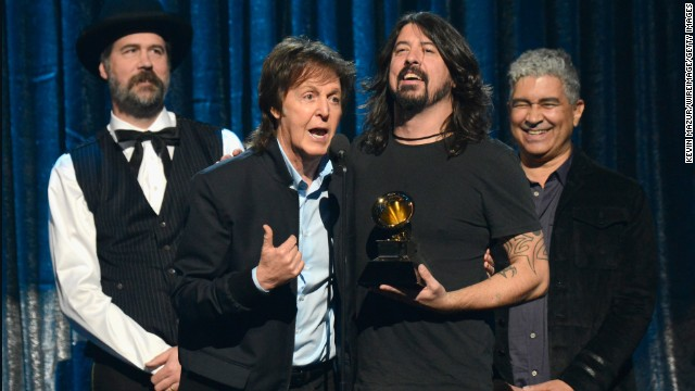 "Best rock song: ""Cut Me Some Slack"" by Paul McCartney, Dave Grohl, Krist Novoselic and Pat Smear"