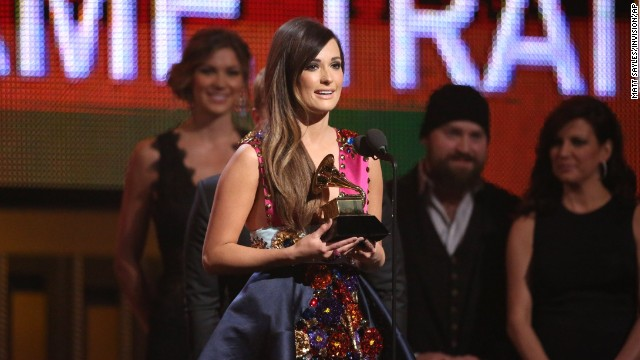 "Best country album: ""Same Trailer Different Park"" by Kacey Musgraves. She also won best country song for ""Merry Go 'Round."""