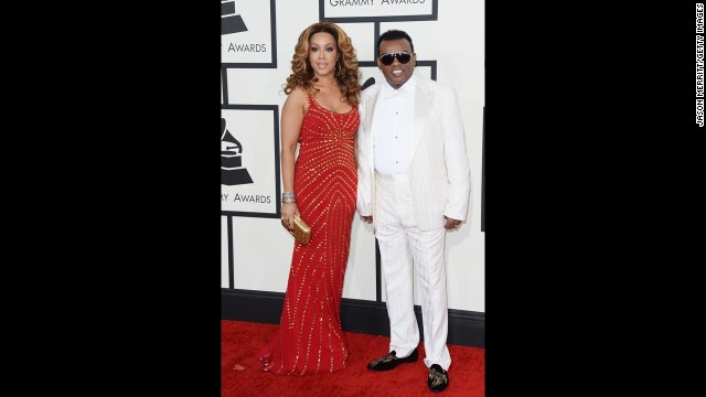 """Ronald Isley of the Isley Brothers was the very definition of """"so fresh, so clean"""" as he walked the red carpet with Kandy Johnson Isley."""