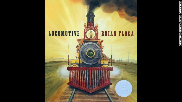 """Locomotive,"" illustrated by Brian Floca, is the 2014 Caldecott Medal winner."